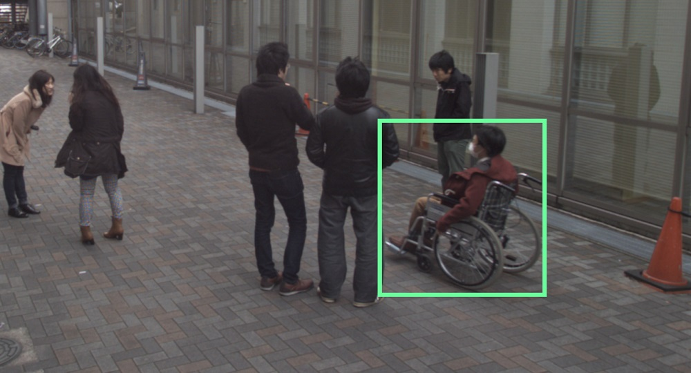 Detection of wheelchairs from surveillance camera images